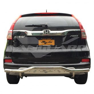 Vanguard Off-Road® - Single Tube Polished Rear Bumper Guard with Skid Plate
