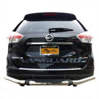 Vanguard Off-Road® - Pintle Style Polished Single Tube Rear Bumper Guard