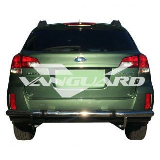 Vanguard Off-Road® - Pintle Style Single Tube Polished Rear Bumper Guard