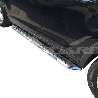 "Vanguard Off-Road® - 5"" F1 Style Wheel-to-Wheel Brushed Running Boards"