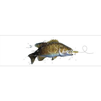 "VantagePoint® - ""Small Mouth Bass Tailwalking Profile"" Rear Window Graphic, 66"" x 20"""