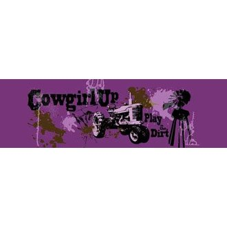 "VantagePoint® - ""Cowgirl Up Dirty Girl"" Rear Window Graphic, 66"" x 20"""