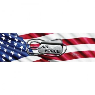 "VantagePoint® - ""Air Force Tags"" Rear Window Graphic"