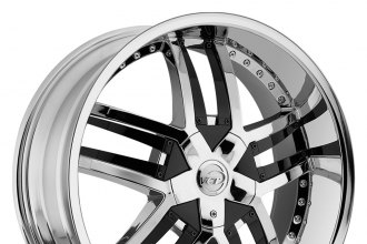 "VCT® - LOMBARDI Chrome with Black Inserts B Style (22"" x 9.5"", +30 Offset, 6x127 Bolt Pattern, 78.3mm Hub)"