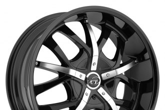 "VCT® - ROMANO Black with Machined Face (18"" x 7.5"", +40 Offset, 5x114.3 Bolt Pattern, 73.1mm Hub)"