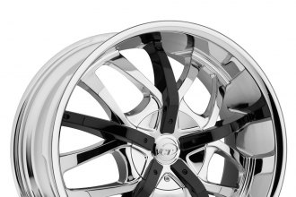 "VCT® - ROMANO Chrome with Black Inserts (18"" x 7.5"", +40 Offset, 5x114.3 Bolt Pattern, 73.1mm Hub)"