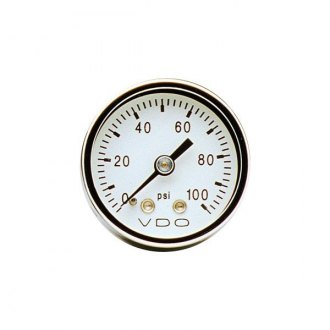 "VDO® - 1-1/2"" Chrome Pressure Gauge"