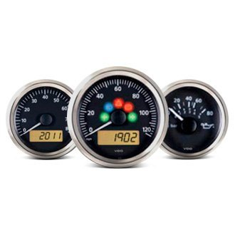 VDO® - Viewline Onyx™ In-Dash Black Analog Gauge Sets
