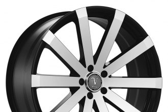 "VELOCITY® - VW12 Black with Machined Face (24"" x 9.5"", +30 Offset, 6x139.7 Bolt Pattern, 87.1mm Hub)"