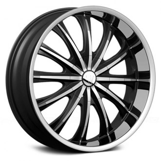 VELOCITY® - VW15 Black with Machined Face and Lip