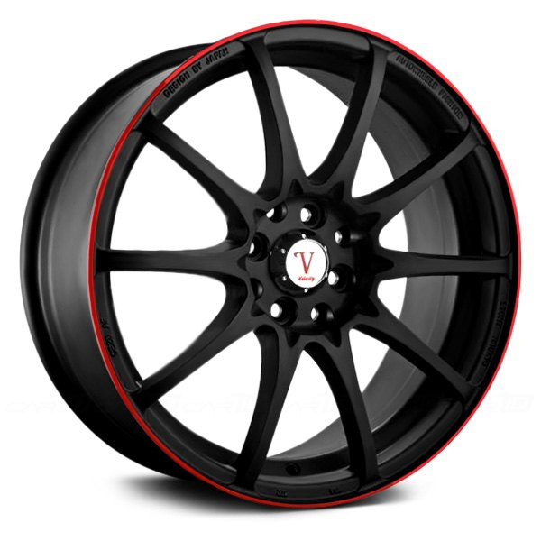 VELOCITY® - VW211 Black with Red Pinstripe