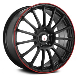 VELOCITY® - VW257 Black with Red Pinstripe