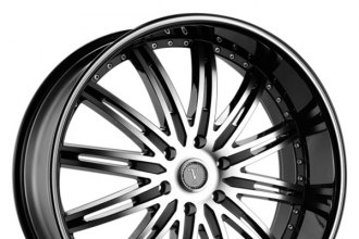 "VELOCITY® - VW865B Black with Machined Face and Ring (20"" x 8.5"", +35 Offset, 6x139.7 Bolt Pattern, 78.1mm Hub)"