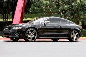 VERDE® - PARALLAX Gloss Black with Machined Face and Stripe on Audi S5