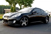 VERDE® - PARALLAX Gloss Black with Machined Face and Stripe on Hyundai Genesis Coupe