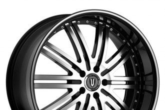 "VERSANTE® - VE212A Black with Machined Face and Pinstripe (22"" x 8"", +38 Offset, 5x114.3 Bolt Pattern, 74.1mm Hub)"