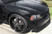 VERSANTE® - VE226A Black with Machined Face and Pinstripe on Dodge Charger