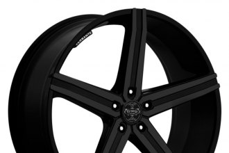 "VERSANTE® - VE228 Matte Black (24"" x 9.5"", +15 Offset, 5x114.3 Bolt Pattern, 74.1mm Hub)"