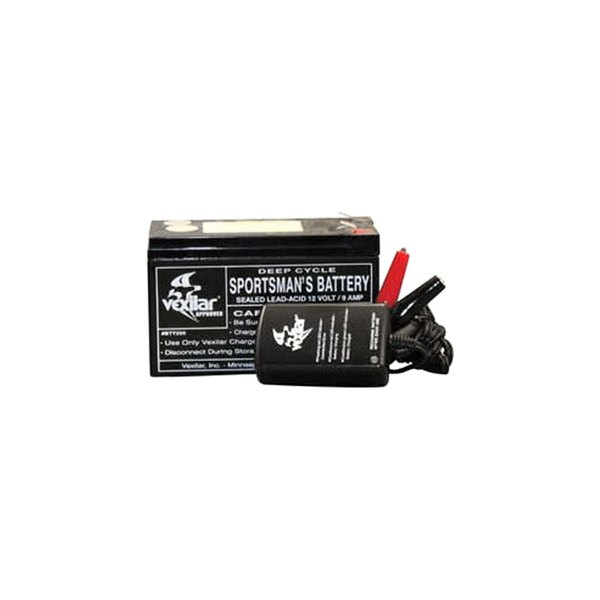 Vexilar® - 9 Amp 12V Battery with Charger