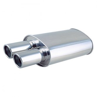 Vibrant Performance® - Streetpower 304 SS Oval Exhaust Muffler with Tip
