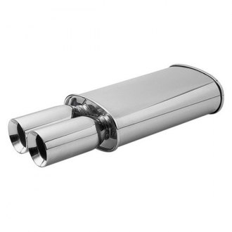 Vibrant Performance® - Streetpower 304 SS Oval Muffler with Tip
