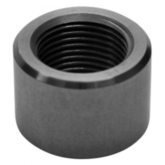 "Vibrant Performance® - Female 8 AN Mild Steel Weld Bung (3/4""-16 SAE Thread, 1"" Flange OD)"