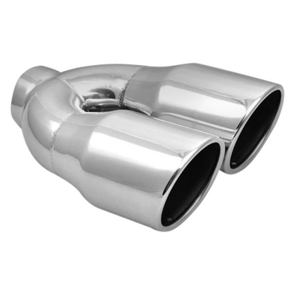"""Universal 2.5/"""" Inlet 3.5/"""" Outlet  Single Bevel Exhaust Pipe Tip Stainless Steel"""