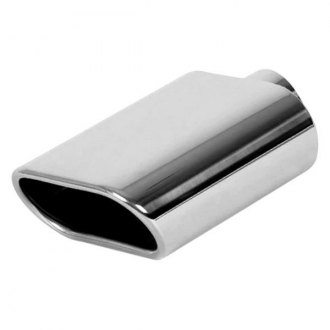Vibrant Performance® - 304 SS Oval Angle Cut Single-Wall Polished Exhaust Tip