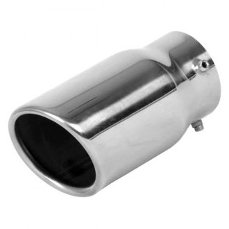 "Vibrant Performance® - 304 SS Round Angle Cut Bolt-On Single-Wall Exhaust Tip (2.25"" Inlet, 3"" Outlet, 5.5"" Length)"
