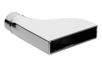 "Vibrant Performance® 1607 - 304 SS Rectangular Exhaust Tip (2.25"" Inlet Diameter, 7.75"" x 1.875"" Outlet Size, 9.5"" Length)"