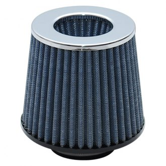 Vibrant Performance® - Open Funnel Round Tapered Blue Air Filter with Chrome Cap