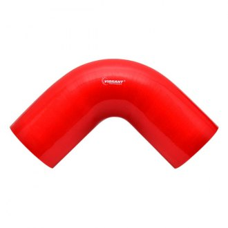 "Vibrant Performance® - 4 Ply 90 Degree Silicone Elbow Red (1.75"" Inner Diameter, 7"" Leg Length)"