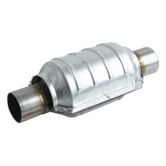"Vibrant Performance® - Stainles Steel Ceramic Core Round Catalytic Converter (2.5"" Inlet / Outlet Diameter, 13"" Length)"