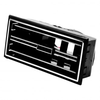 "Vintage Air® - 5.25"" x 2.5"" In-Dash Black Standard Series Louver"