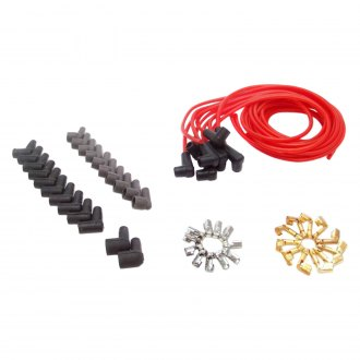 Vintage Parts® - 7mm 90° Clear Red Spark Plug Wire Kit