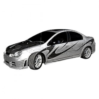 VIS Racing® - Kombat Style Fiberglass Side Skirts (Unpainted)