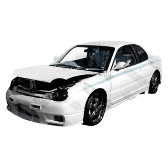 VIS Racing® - Omega Style Fiberglass Side Skirts (Unpainted)