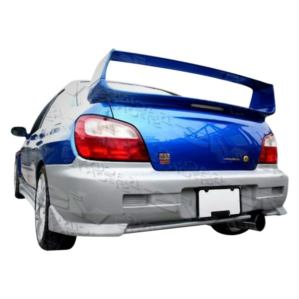 Image may not reflect your exact vehicle! VIS Racing® - STI Style Fiberglass Rear Bumper Lip (Unpainted)