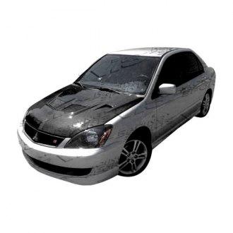 vis racing evo style carbon fiber hood
