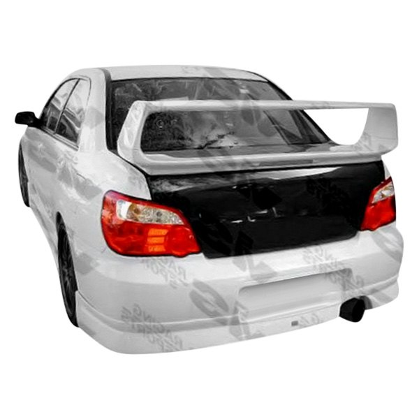 Image may not reflect your exact vehicle! VIS Racing® - STI Style Fiberglass Rear Bumper (Unpainted)