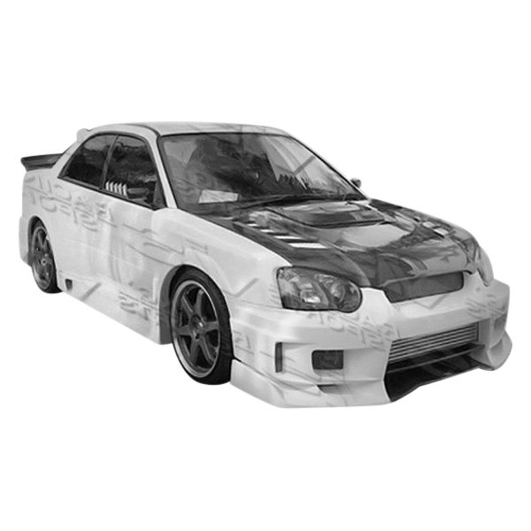 Image may not reflect your exact vehicle! VIS Racing® - Z Speed 2 Style Fiberglass Front Bumper Lip (Unpainted)