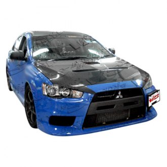 vis racing evo x style fiberglass body kit unpainted - Mitsubishi Lancer 2014 Blue