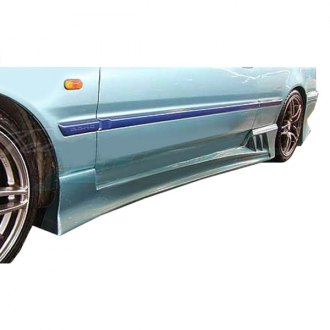 VIS Racing® - V Speed Style Fiberglass Side Skirts (Unpainted)