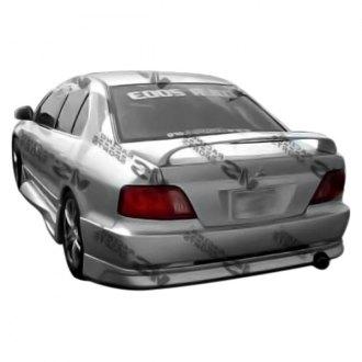 vis racing cyber 1 style fiberglass rear bumper lip unpainted