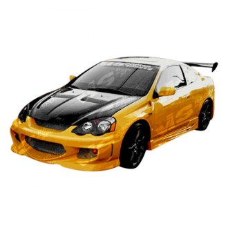 VIS Racing® - GT Bomber Style Fiberglass Side Skirts (Unpainted)