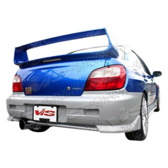 VIS Racing® - STI Style Fiberglass Rear Lip (Unpainted)