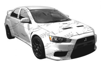 VIS Racing® - EVO X Wide Body Style Fog Light Covers