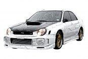 VIS Racing® - STI Fiberglass Hood Scoop
