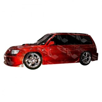 VIS Racing® - Tracer Style Fiberglass Side Skirts (Unpainted)