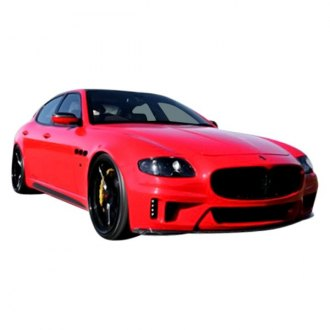 VIS Racing® - VIP Style Fiberglass Front Bumper with Carbon Fiber Insert